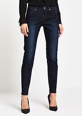 Skinny Jeans in Used-Optik