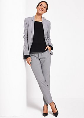 Fine business trousers with a pepita pattern from comma