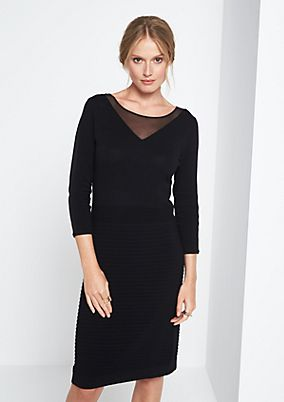 Elegant evening dress with 3/4-length sleeves from comma