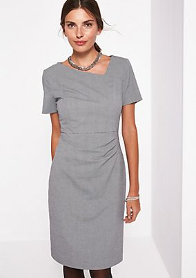 Business dress in a classic pepita design from comma