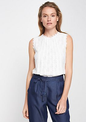 Blouse top in the finest lace from comma