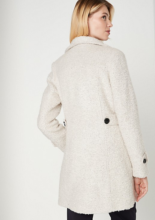 Coat in soft bouclé from comma