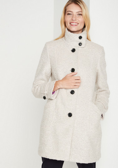 Soft bouclé coat from comma