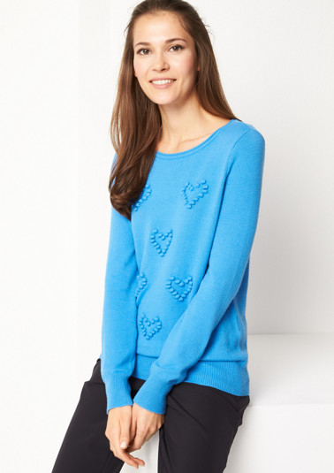 Soft knit jumper with heart embellishment from comma