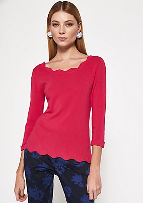 Soft knit jumper with 3/4-length sleeves from comma