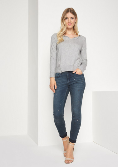 Long sleeve knit jumper with decorative zips from comma