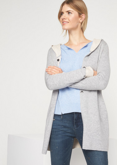 Long cardigan with a hood from comma