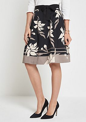 Elegant casual skirt with an all-over pattern from comma