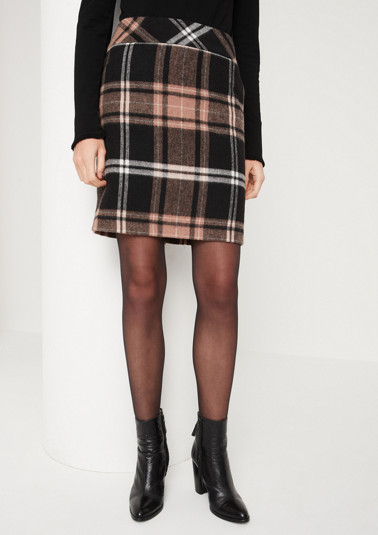 Mini skirt with a check pattern from comma