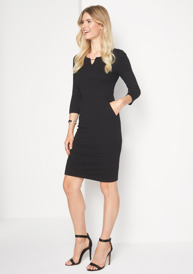 Jersey business dress with 3/4-length sleeves from comma