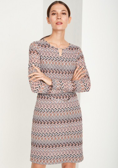 Lightweight knit dress with interwoven glitter yarn from comma