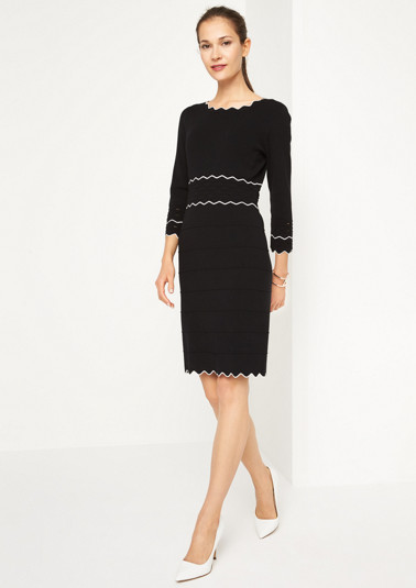 Fine knit dress with 3/4-length sleeves from comma