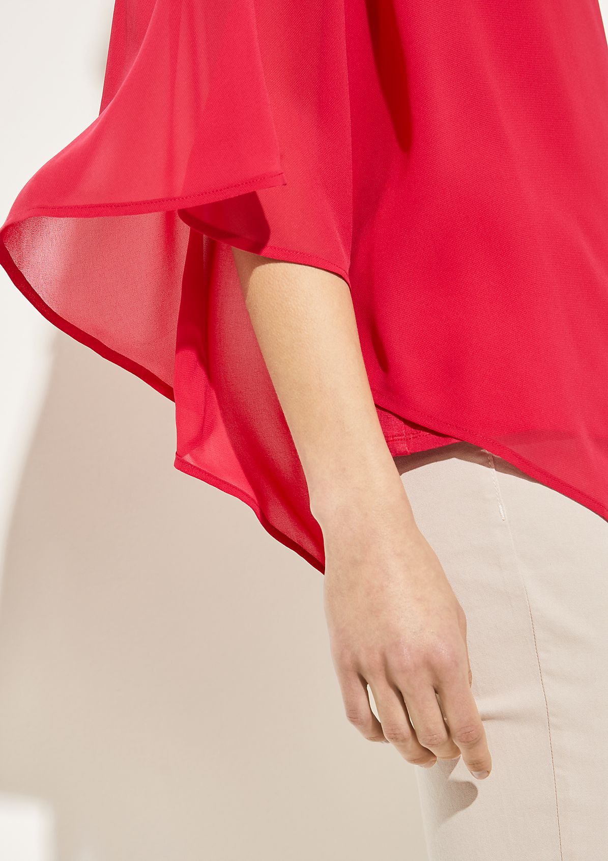 Crêpe blouse with tassel embellishments from comma