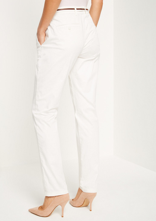 Satin trousers with belt from comma