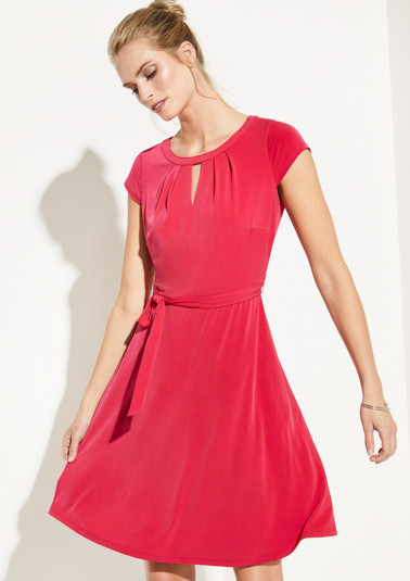 Summery jersey dress with a belt from comma