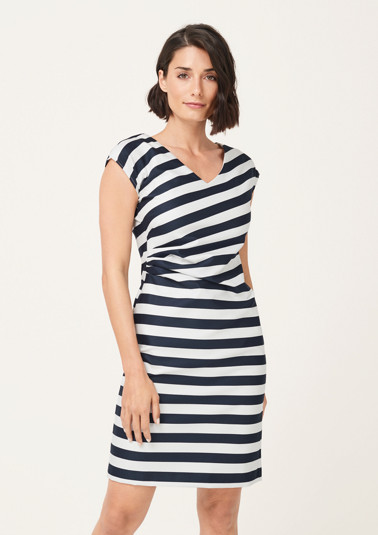 Casual summer dress in a striped design from comma