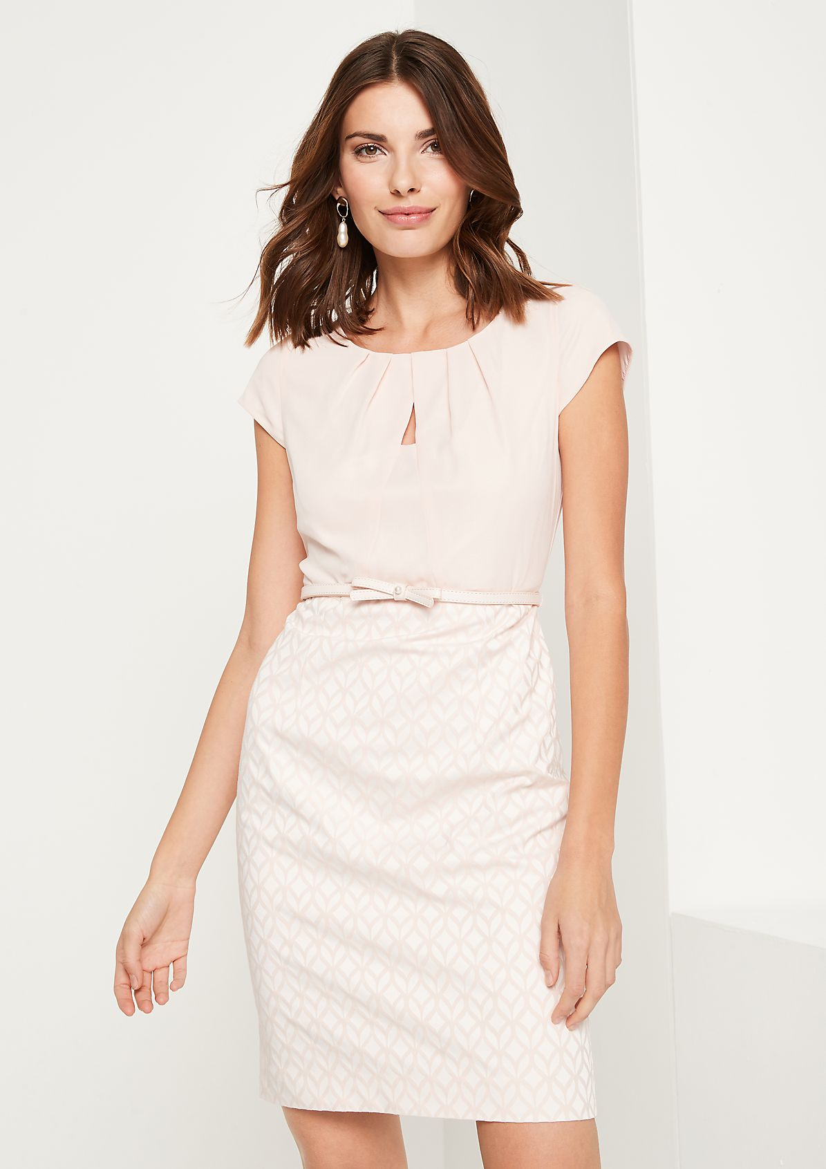 Sheath dress with a jacquard pattern from comma
