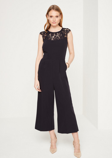 Elegant business jumpsuit with lace embellishment from comma