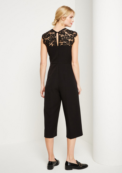 Eleganter Business-Jumpsuit mit Spitzenverzierungen