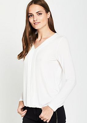 Jersey long sleeve top with fine details from comma