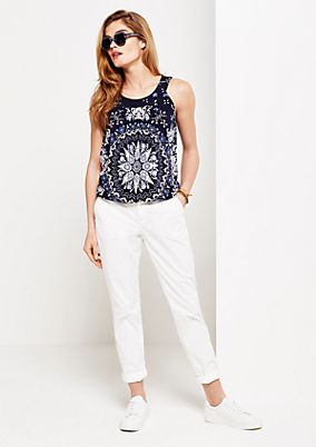 Summery jersey top with a decorative all-over print from s.Oliver