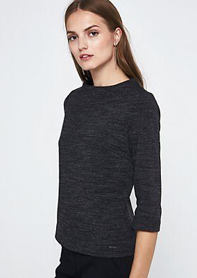 Crisp top with 3/4-length sleeves and beautiful details from s.Oliver