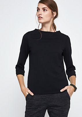 Griffiges 3/4-Arm Shirt mit schönen Details