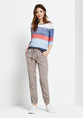 Summery top with 3/4-length sleeves and a beautiful striped pattern from s.Oliver