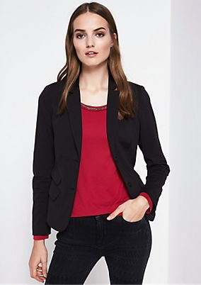 Classic blazer with exciting details from comma