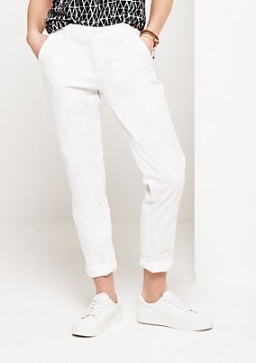 Casual versatile trousers with smart details from comma