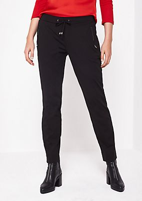 Elegant lounge trousers with zip pockets from comma