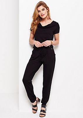 Beautiful jersey jumpsuit with short sleeves from s.Oliver