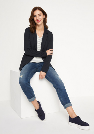 Casual blazer in soft jersey from comma