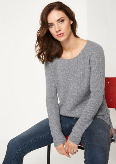 Long sleeve rib knit jumper from comma