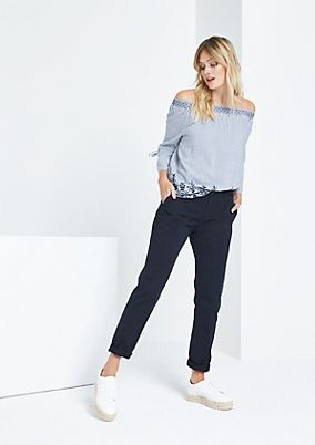 Casual trousers with smart details from comma