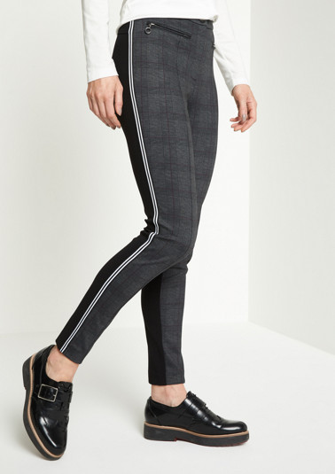 Casual trousers with a mixed pattern from comma