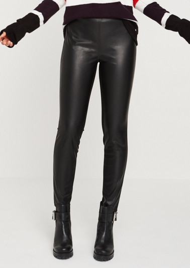 Faux leather leggings from comma