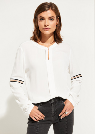 Long sleeve blouse with stripe details from comma