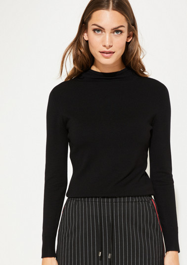 Fine knit jumper with exciting details from comma