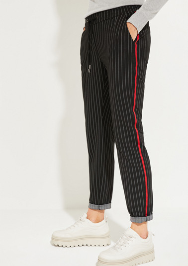Casual trousers with a classic pinstripe pattern from comma