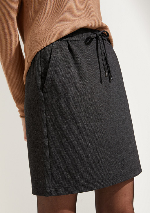 Mini skirt with ties from comma