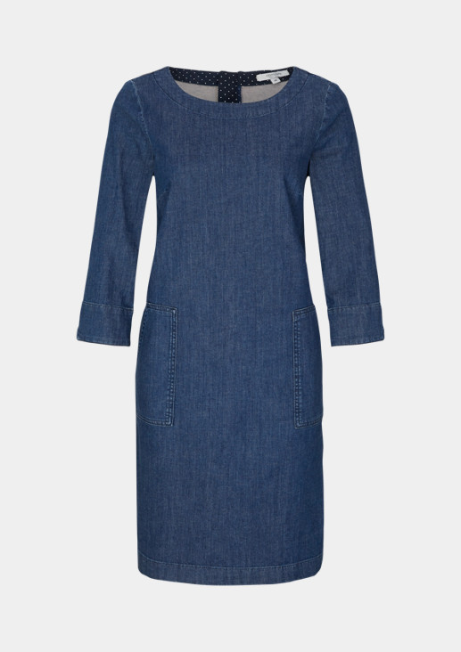Denim dress with 3/4-length sleeves from comma