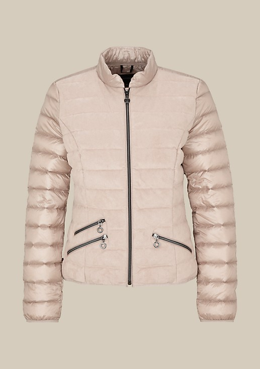 Lightweight down jacket in a sophisticated mix of materials from s.Oliver