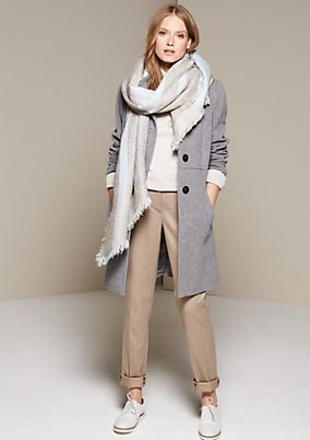 Warm coat in elegant fabric from comma