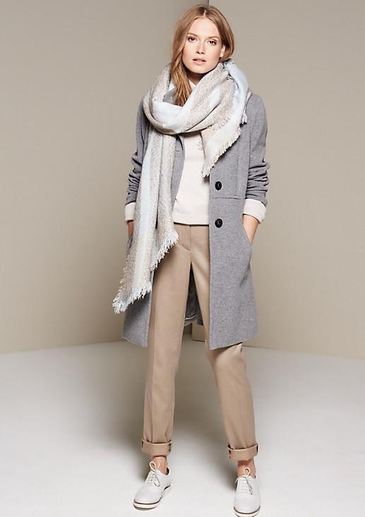 Warm coat in elegant fabric from comma