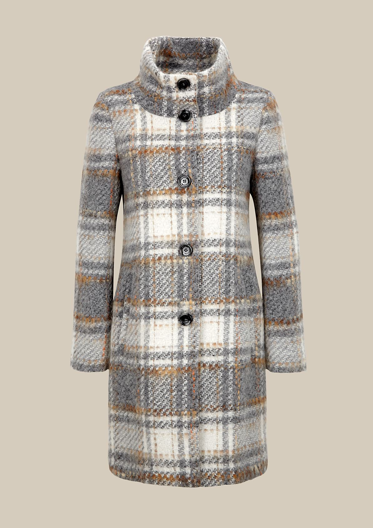 Warm woolly winter coat with a beautiful pattern from comma