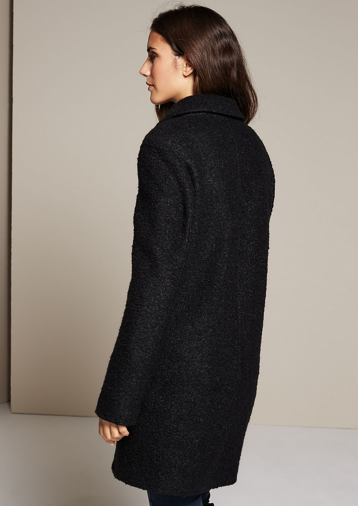 Warm coat in a bouclé look from s.Oliver