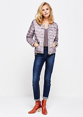 Lightweight quilted jacket with a decorative all-over pattern from s.Oliver