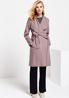 Soft coat with a wide fabric belt from s.Oliver