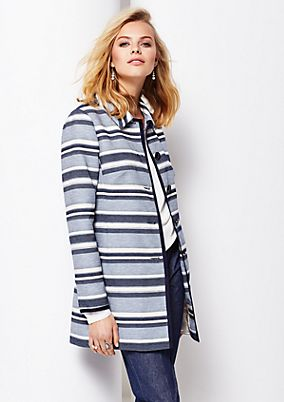 Long coat with a beautiful striped pattern from s.Oliver
